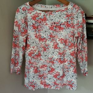 Talbots 100% Pima Cotton floral shirt, size small